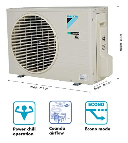Daikin 1 Ton 4 Star Inverter Split AC (Copper FTKP35TV White)