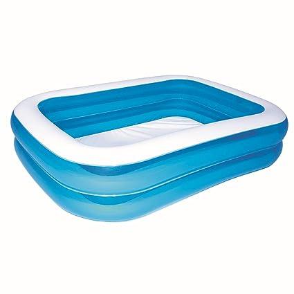 Amazon.com: Blue Deluxe inflable para piscina rectangular ...