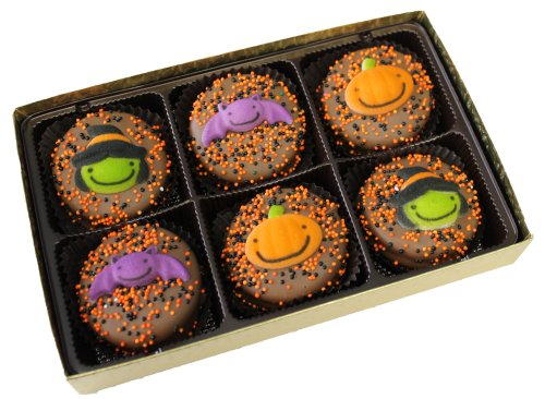 Chocolate Dipped Oreo Cookies for Halloween 6 Piece Gift Box