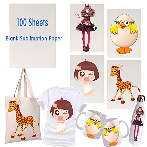 """100 Sheets Sublimation Paper 8.27"""" x 11.7"""" T-Shirt for sale  Delivered anywhere in USA"""