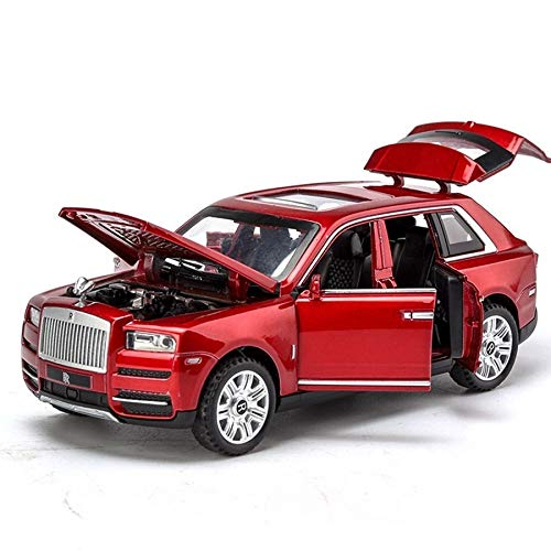 LENO Rolls Royce Cullinan SUV Diecast Metal Car Models | High Simulation | Scale 1:32 |Colour Red with Box