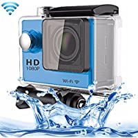 Professional Product Easy to Use Sport Action Camera Professional Portable 2.0 inch Screen 140 Degrees Wide Angle Lens Support WiFi Function, Water Resistant Depth: 30M