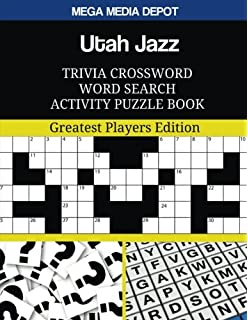 Utah Jazz Trivia Crossword Word Search Activity Puzzle Book  Greatest  Players Edition 0ca191dd6