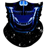 Obacle Half Face Mask Sun Dust Wind Protection Durable Tube Mask Bandana Skull Skeleton Face Mask For Men Women Bike Riding Motorcycle Fishing Hunting Cycling Outdoor Festival Skull Clown Many Pattern