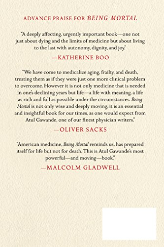 Being Mortal: Medicine and What Matters in the End - http://medicalbooks.filipinodoctors.org