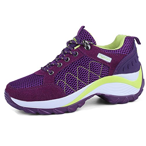 and Lightweight Shoes Women Breathable Jogging WEONEDREAM Walking Hiking Casual Purple For Running Outdoor Sport 5xPqAaYw