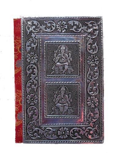 Silver Metal Ganesh Journal handmade notebook (7 x 5)