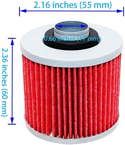 Air Filter 1UY-14451-00-00 Oil Filter 4X7134409000 Cleaner Replacement for 1998-2001 Yamaha Grizzly 600 YFM600F YFM600FH YFM600FWA 4x4