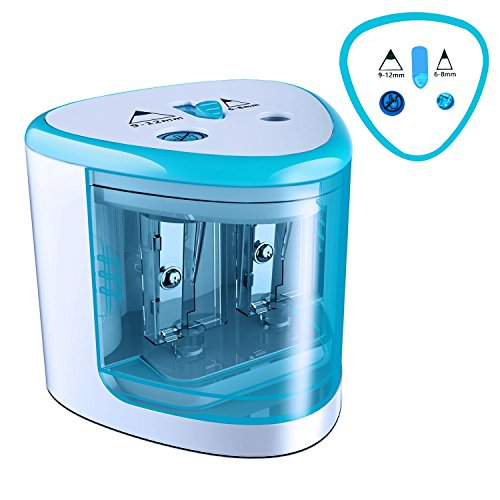 MROCO Pencil Sharpener Battery Operated Electric Pencil Sharpener Colored Pencils Sharpener automatic pencil cutter for kids, adults, artists, or sharpeners for pencils, office pencil sharpener (Blue) - Electric Pencil Sharpener Desktop