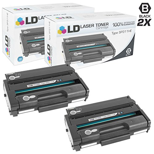 (LD Compatible Toner Cartridge Replacement for Ricoh 407245 SP311HE High Yield (Black, 2-Pack))
