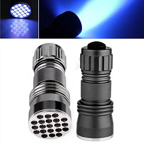 HDE Mini 21 LED Black Light UV Ultra Violet Detection Portab