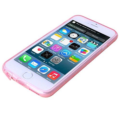 Smart protectors! premium coque de protection en silicone tPU pour apple iPhone 6 motif tranparentes cube-rose fluo