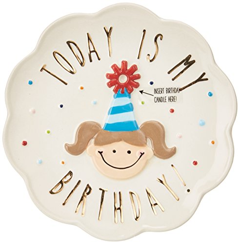 Mud Pie Birthday Girl Celebration Candle Plate