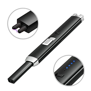 YHX Mechero eléctrico de Arco, al Aire Libre, USB, Recargable, para Barbacoa