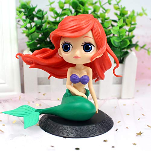 - Mermaid Party Supplies, Party Favors for Kids, Little Cute Big Eyes Mermaid Decor Doll, Cake Toppers for Birthday Cake Decoration, Mermaid Theme Party, Black Base