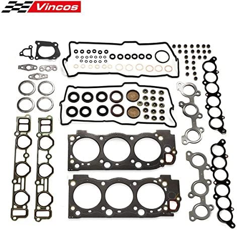 Vincos Full Gasket Kit Replacement For Toyota 3.4l 4Runner Tacoma Tundra Engine 5VZFE 1995-2004