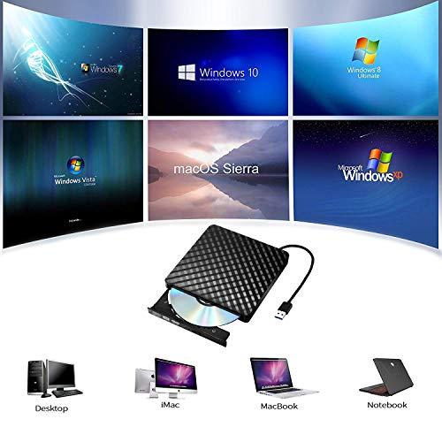 Tecnugiz External CD/DVD Drive for Laptop & MacBook, CD / DVD Player & Burner with USB 3.0 Plug, Fast Data   Transfer & Writing Speed 8 X DVD-R by Tecnugiz (Image #2)