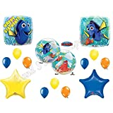 "FINDING DORY & NEMO ""Bubble"" Happy Birthday Balloons Decoration Supplies Party Disney Fish"