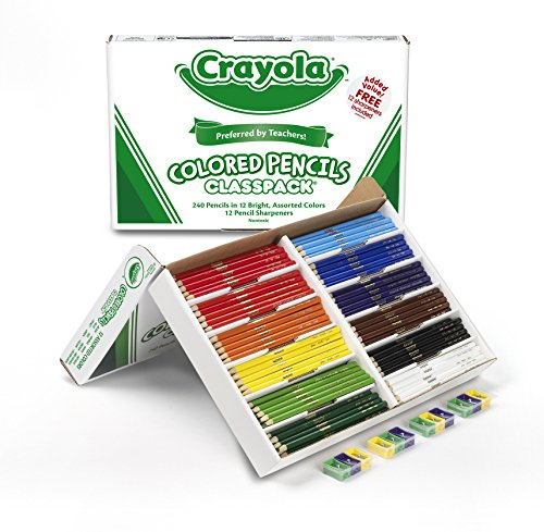 Crayola Colored Pencils Bulk, 240 Count Classpack, 12 Assorted Colors