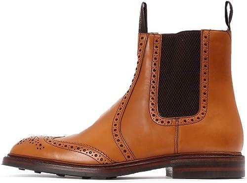 Mens Loake Boots - Tan Pull On Brogue