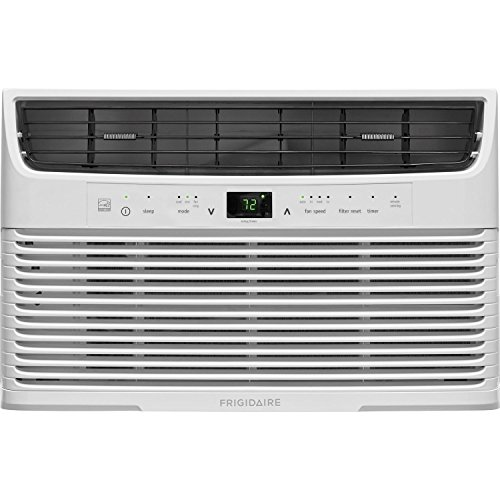 FRIGIDAIRE FFRE0533U1 FFRE0533U1-5,000 BTU 115V Window-Mounted Mini-Compact Full-Function Remote Control Air Conditioner, White