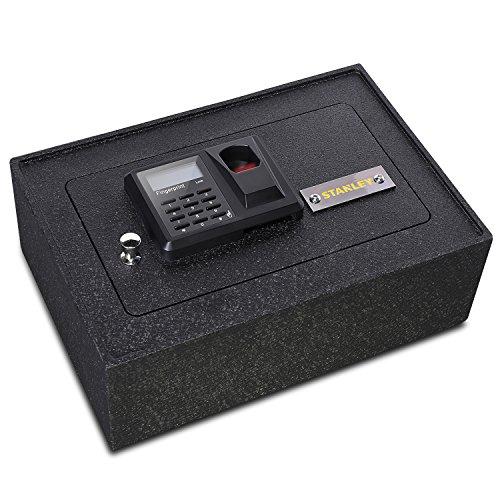 11. Stanley Solid Steel Biometric Personal Drawer Safe (Fingerprint Recognition)