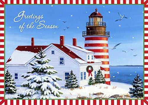Lighthouse Christmas Cards - 4