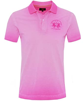 La Martina Camisa de Polo Slim Fit Ombre Rosa: Amazon.es: Ropa y ...