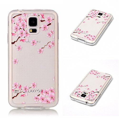 163 Plum - Case For Samsung Galaxy S5 i9600, Durable Protective Comfortable Slim Fit Shell Back Anti-Scratch Case Phone Cover Samsung Galaxy S5 i9600 Plum Blossom