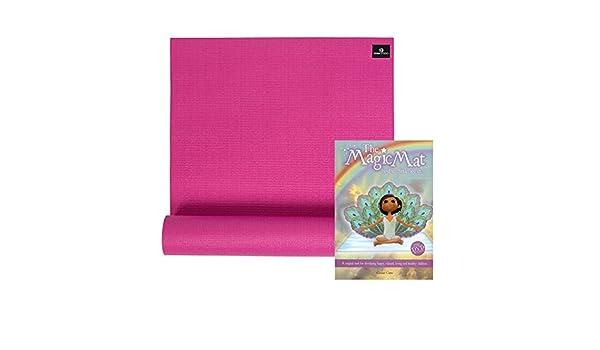 Kit de yoga para niños con esterilla, libro y DVD, rosa ...