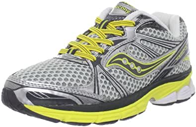 Saucony Women's Progrid Guide 5 Running Shoe,Silver/Grey/Yellow,5 M US