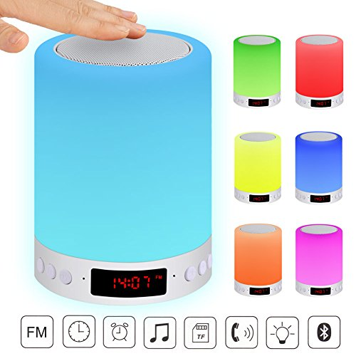 LED Bluetooth alarm clock with speaker
