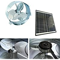 Brightwatts Galvanized Steel Rust Prevention and High Efficiency Blades Solar Gable Attic Fan, Brushless DC Motor