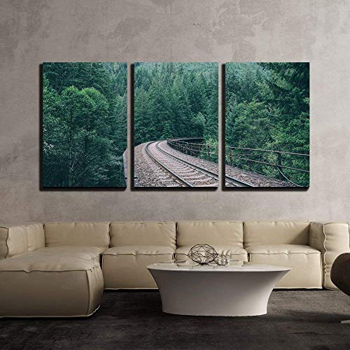 Railway Through The Forest x3 Panels