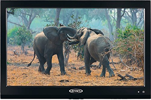 Jensen JTV19DC HD Ready 19 Inch 12V DC RV LED TV with Integrated HDTV (ATSC) Tuner, HD Ready (1080p, 720p, 480p), 1366 x 768 Full HD, Dual Function Wireless Remote ()