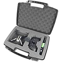 CASEMATIX Mini Drone Hard Carry Case Fits Parrot Mambo Drone , Cannon , Grabber , Parrot Flypad Minidrone Controller , Propellers , Battery Charger , Hulls and More Small Accessories