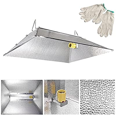 """35x29"""" Indoor Grow Light Reflector Hood For 250w 400w 600w 1000 watt HPS MH Tent"""