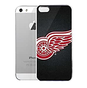 phone covers Light weight with strong PC plastic case for iPhone 5c Sports & Collegiate NHL Detroit Red Wings Detroit Red Wings Black Background