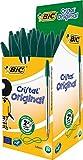 BIC Cristal Original 1.0 mm Ball Pen - Green, Pack of 50