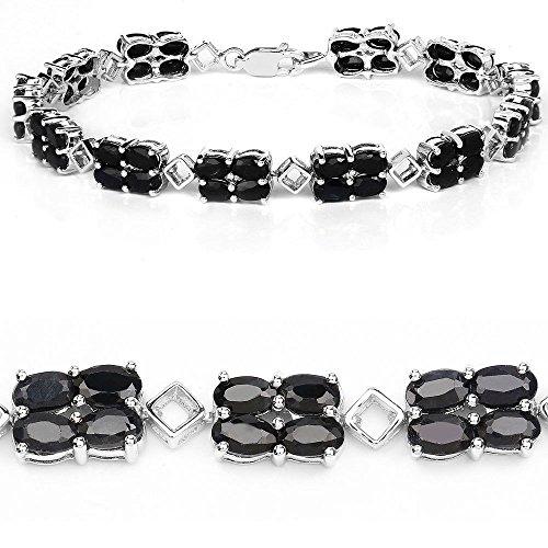 """Sterling Silver Saphir Ovale Cut [7.5 """"/19.05 mm] Bracelet Tennis à 16,8 Carats pour les femmes"""