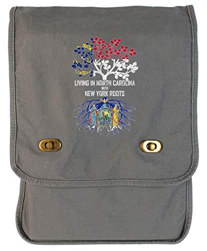 (Tenacitee Living In North Carolina with New York Roots Smoke Grey Canvas Field Bag )