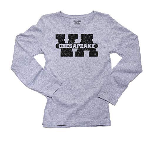 Chesapeake, Virginia VA Classic City State Sign Women's Long Sleeve T-Shirt]()