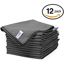 """Gray Microfiber Cleaning Cloths 