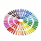 NUOMI Mini Colored Natural Wooden Clothespins Photo Paper Pegs Pin Craft Clips (pack of 40)