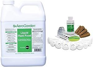 AeroGarden Liquid Nutrients (1 Liter) & Grow Anything Seed Pod Kit, 9