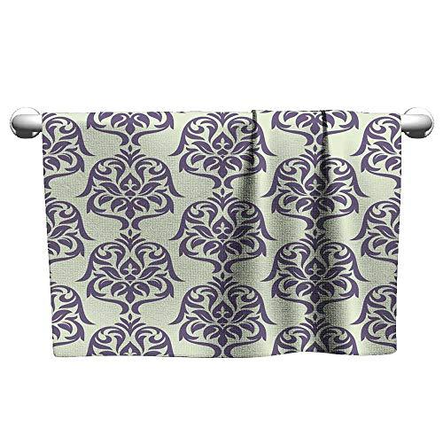 Tankcsard Cute Hand Towels Floral Seamless Wallpaper,Workout Towel for Men