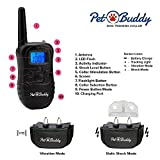 Stop-Dog-Barking-No-Harm-Anti-Bark-Collar-With-Rechargeable-Remote-By-Pet-Buddy-Most-Humane-Best-Bark-Collar-Vibration-Beep-Sensitivity-Control-Small-Large-Dog-15-130-lbs-2-Free-Bonus-Straps