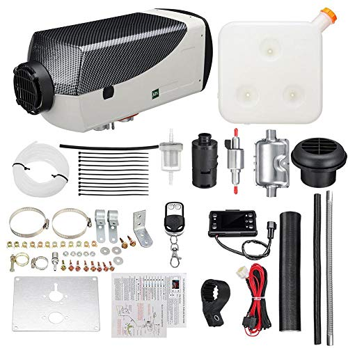 Rstant Air Heater Kit,Air Diesel Parking Heater Kit Warming Equipment 12V 5000W Diesel Air Heater: