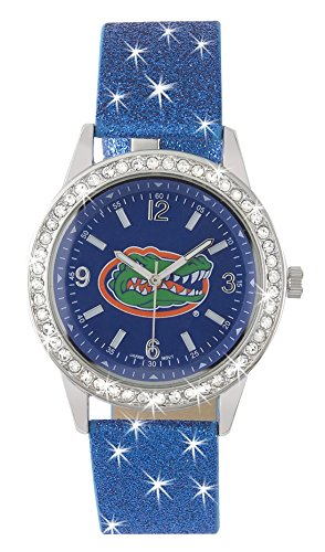 FLORIDA GATORS GLITTER WATCH-UNIVERSITY OF FLORIDA LADIES GLITTER WATCH
