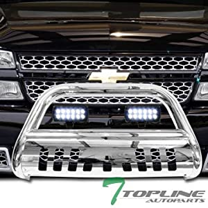 Amazon topline autopart polished stainless steel bull bar topline autopart polished stainless steel bull bar brush push bumper grill grille guard with skid plate 36w cree led fog lights 99 07 chevy silverado aloadofball Gallery